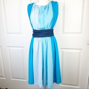Anthropologie Geode Shades of Blue Plus Size Dress